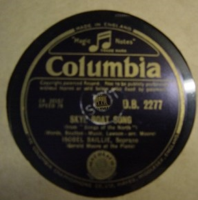 Iosbel Baillie - Skye Boat Song - Columbia D.B. 2277 UK