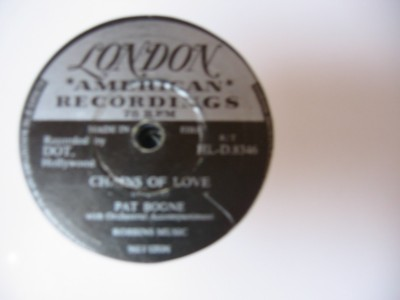 PAT BOONE - CHAINS OF LOVE - LONDON IRISH { 55