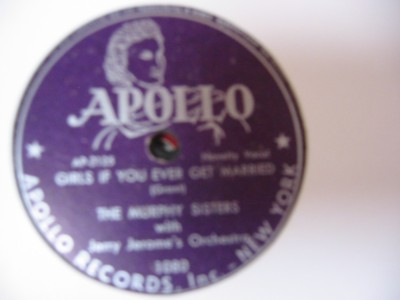 MURPHY SISTERS - APOLLO RECORDS 1080 { 59