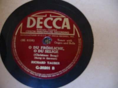 RICHARD TAUBER - SILENT NIGHT - DECCA 20201 { 83