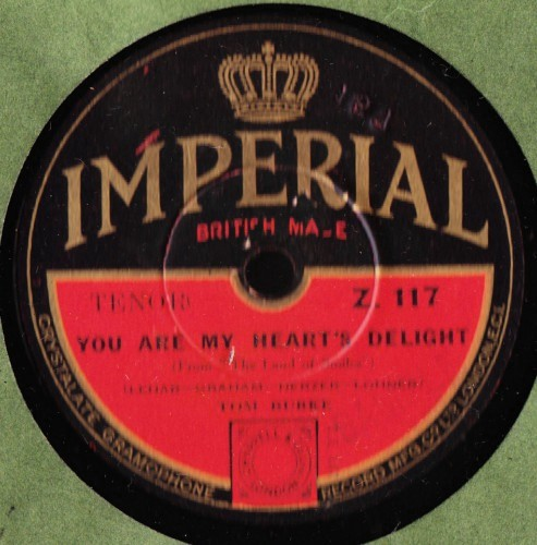 Tom Burke - You are my hearts delight - Imperial Z.117