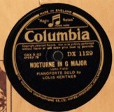 Louis Kentner Piano - John Field Nocturne - Columbia DX 1129