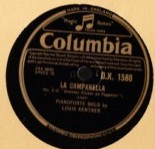 Louis Kentner Piano - Liszt La Campanella - Columbia DX 1580