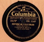 Louis Kentner Piano - Chopin Polonaise - Columbia DX 1146 ,47