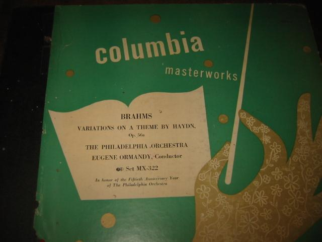 BRAHMS - VARIATIONS THEME HAYDN - ORMANDY - COLUMBIA MX-322