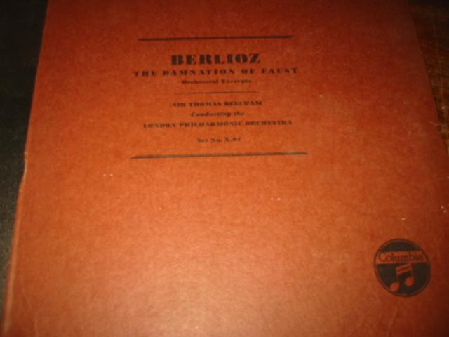 BERLIOZ - DAMNATION OF FAUST - BEECHAM - COLUMBIA X-94