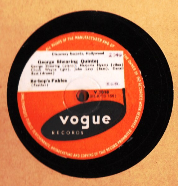 George Shearing Quintet - Be Bop Fables - Vogue UK