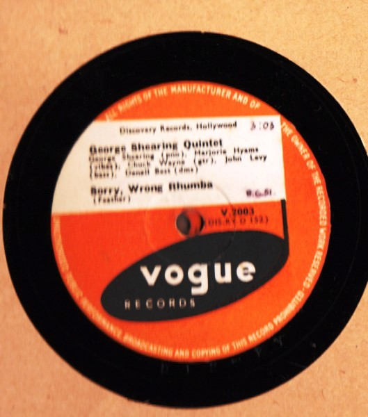 George Shearing Quintet - Sorry wrong Rhumba - Vogue UK