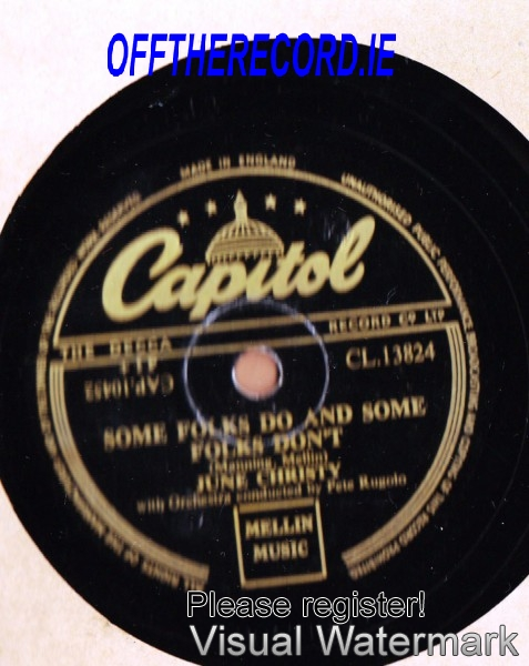 June Christy - The man I love - Capitol UK