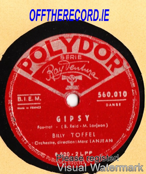 Billy Toffel - Gipsy - Polydor France 2593