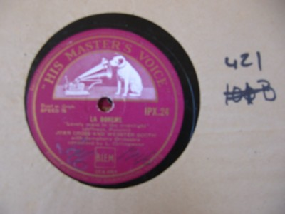 JOAN CROSS WEBSTER BOOTH - VERDI PUCCINI HMV { 421