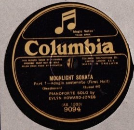 Evlyn Howard Jones - Beethoven Moonlight - Columbia 9095 / 95