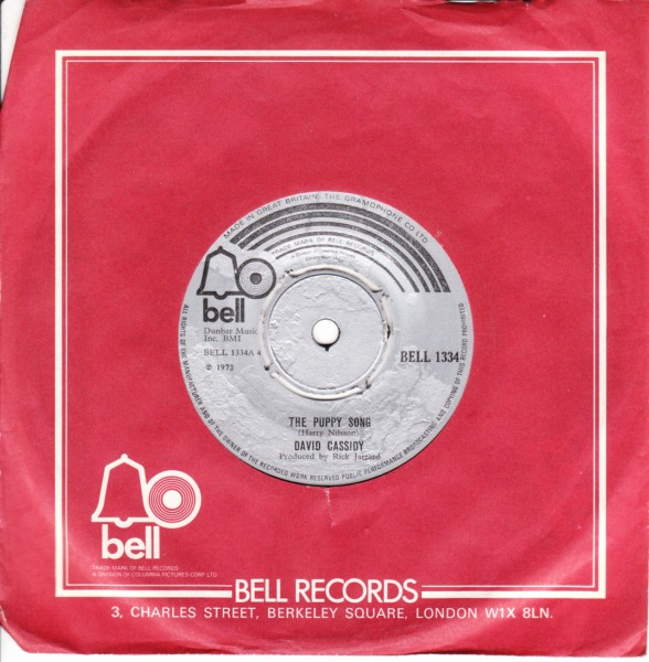David Cassidy - The Puppy Song - Bell UK 1973 Mint Minus