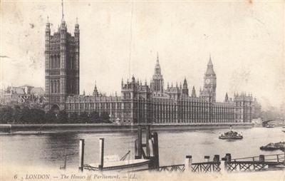 House of Parliament - London 1908