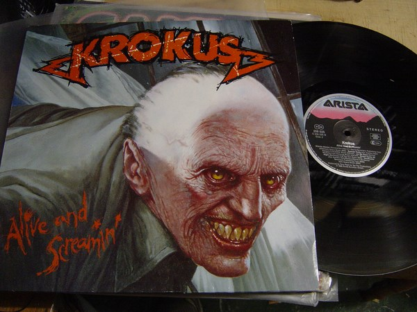 Krokus - Alive and Screamin - Arista 208025 Germany 1986