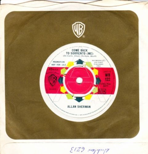 Allan Sherman - Come back to Sorrento - Warner Bros Demo Mint Mi