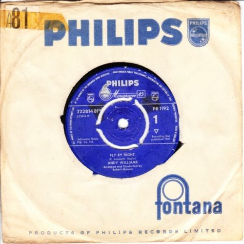 Andy Williams - Fly by night - Philips UK 3673