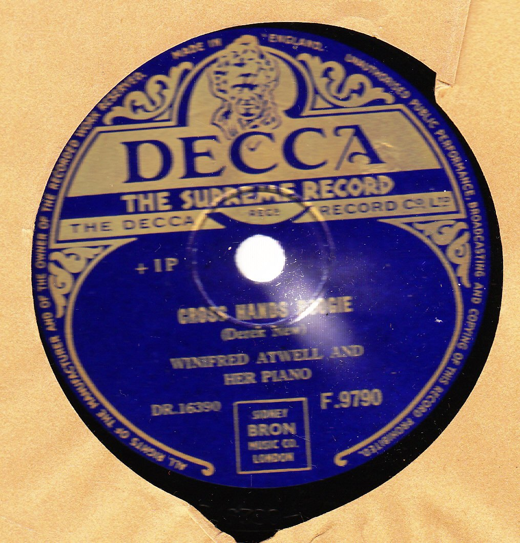 Winifred Atwell - Cross Hands Boogie - Decca F.9790 UK