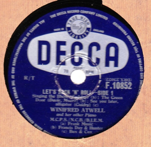 Winifred Atwell - Lets Rock n Roll - Decca F.10852 UK