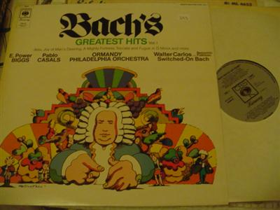BACH - GREATEST HITS VOL 1 - ORMANDY - CBS