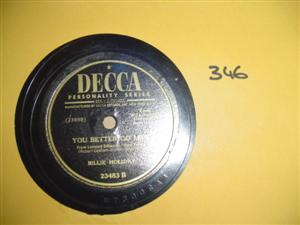 BILLIE HOLLIDAY - NO MORE - DECCA 23483 { 346