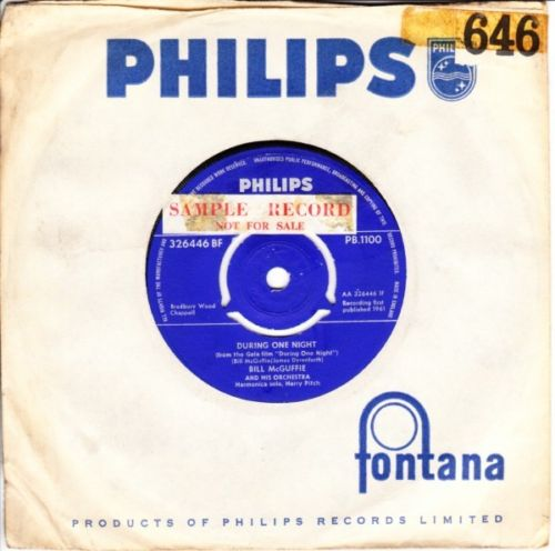 Billy McGuffie - During one Night - Philips UK 3634
