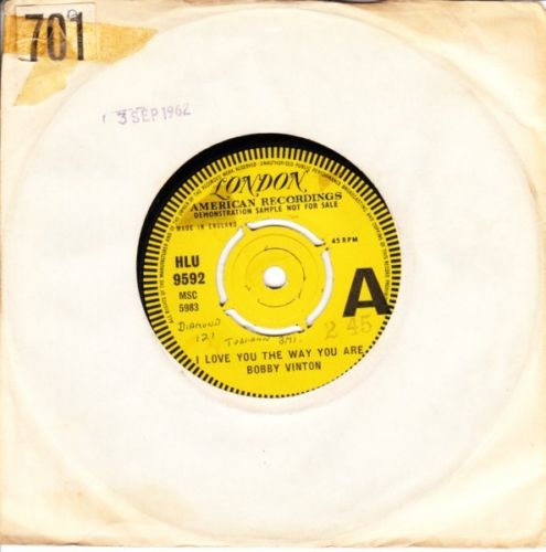 Bobby Vinton - I love you the way you are - LONDON DEMO - 3706