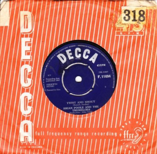 Brian Poole Tremeloes - We Know - Decca Irish pressing 2737