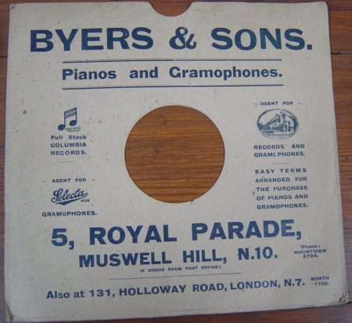 Byers & Sons 5 Royal Parade , Muswell Hill N.10 / 2