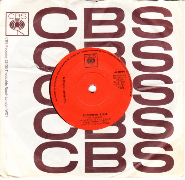 Ronnie Dyson - When you get right down to it - CBS IRISH 3276