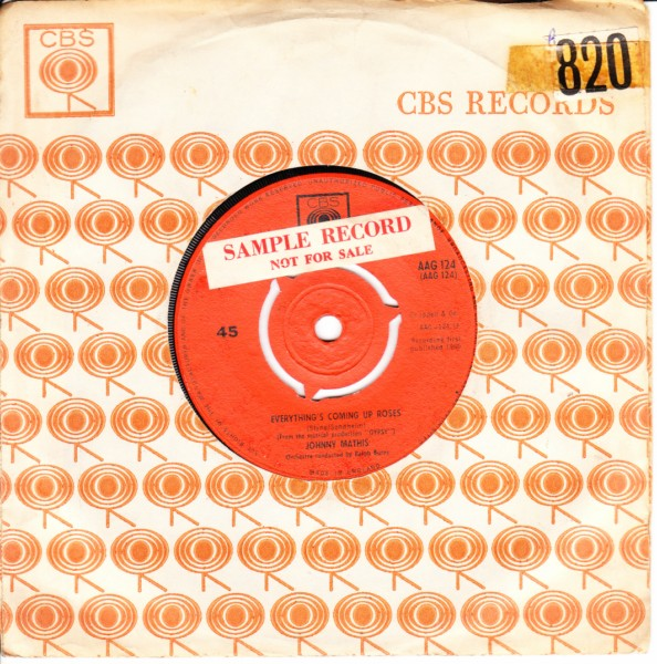 Johnny Mathis - Small World - CBS UK 3270