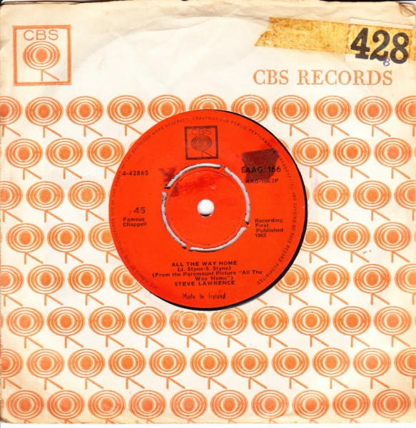 Steve Lawrence - All the way home - CBS IRISH 3265