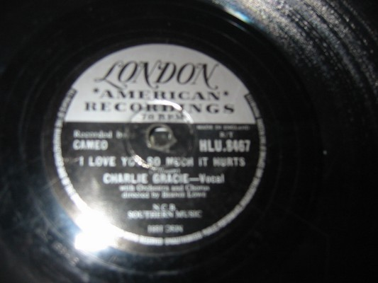 CHARLIE GRACIE - WANDERING EYES - LONDON - RARE 78 RPM