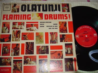OLATUNJI - FLAMING DRUMS - COLUMBIA