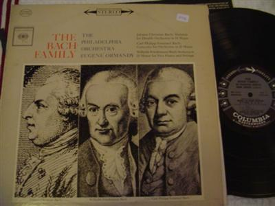 EUGENE ORMANDY - BACH FAMILY - COLUMBIA 6 EYE STEREO