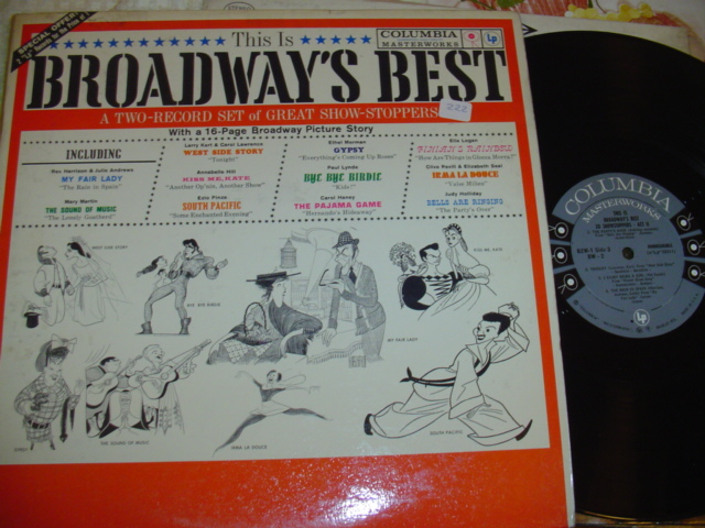 THIS IS BROADWAYS BEST - COLUMBIA 2LP
