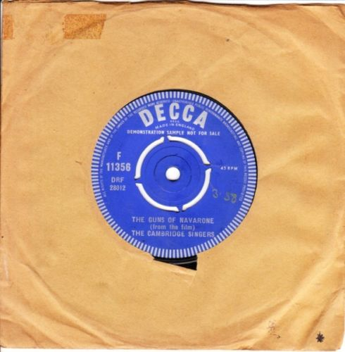 Cambridge Singers - Guns of Navarone - Decca Demo 3544