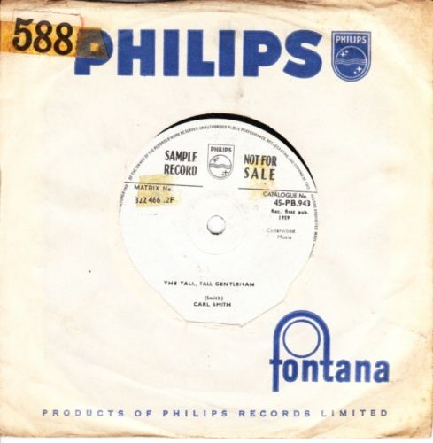 Carl Smith - The Tall Gentleman - Philips Sample Demo 3685
