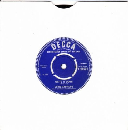 Chris Andrews - Thats what she said - Decca DEMO 3057