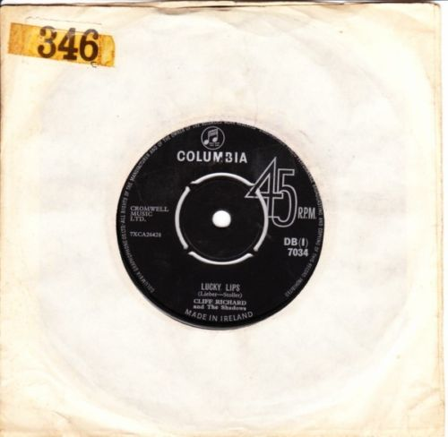 Cliff Richard - Lucky Lips - COLUMBIA IRISH 2899