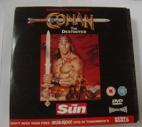 Conan the Destroyer - Schwarzenegger - The Sun DVD