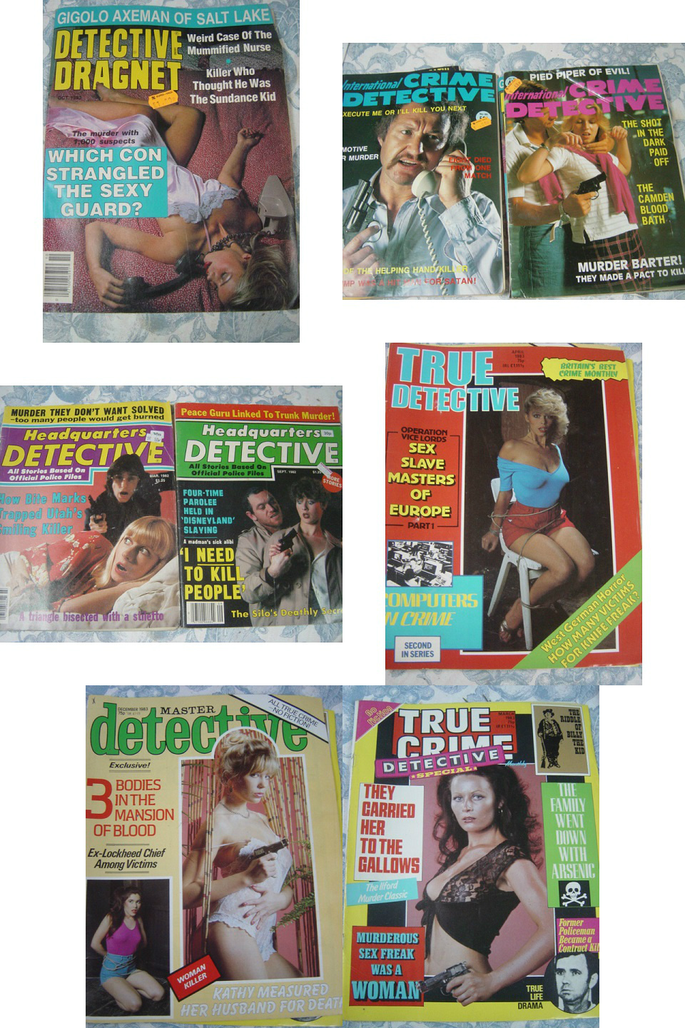 True , Master True Crime Detective - 131 Magazine Lot 1980's