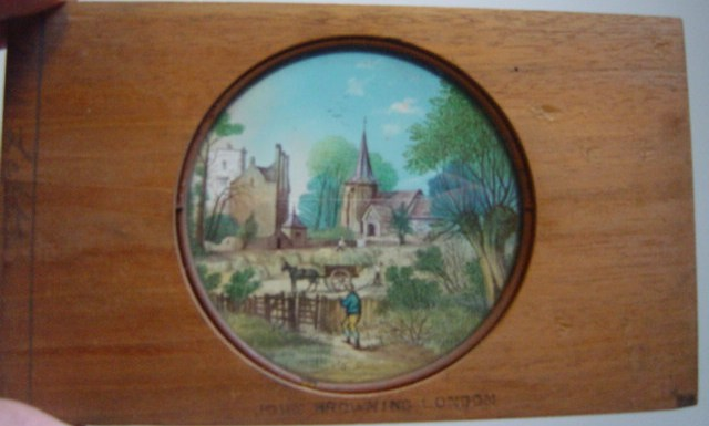 Magic Lantern Slide Wooden Frame , Summer - John Browning London