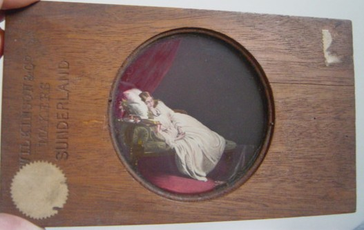 Magic Lantern Slide Wooden Frame , A Believer's Vision - Wilkins