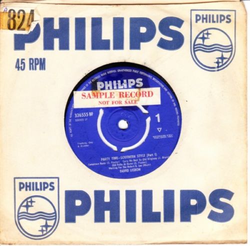 David Lisbon - Party Time Southern Style - Philips UK 3664