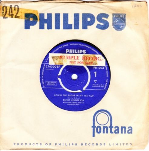 Dickie Henderson - Youre sugar in my tea - Philips UK 3646