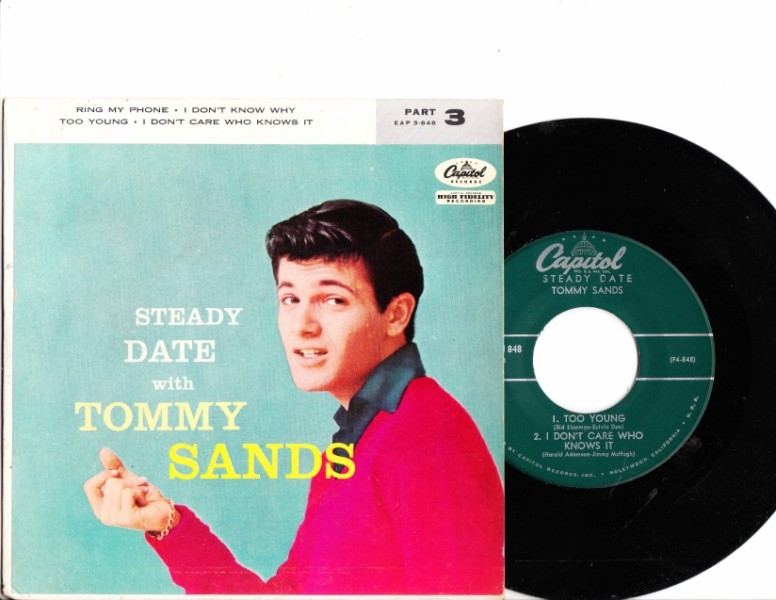 TOMMY SANDS - STEADY DATE - CAPITOL N MINT EP