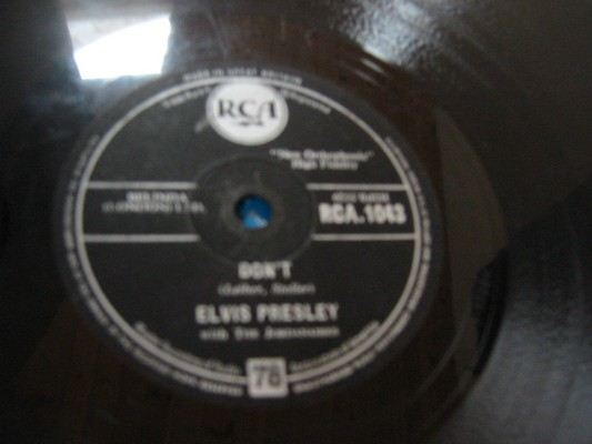 ELVIS PRESLEY - DONT - RCA 1043 - RARE 78 RPM