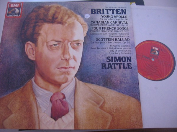 BRITTEN - YOUNG APOLLO - SIMON RATTLE - EMI { 91