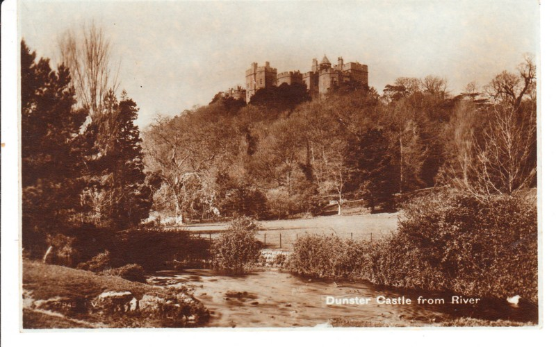 DUNSTER CASTLE - - FROM RIVER - UN POSTED